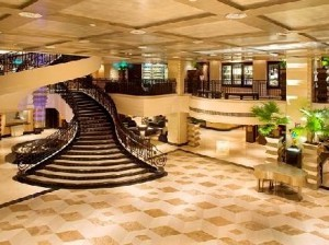 The Lobby of the Sheraton Hotel